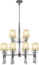 24-Light Shaded Chandelier Willa Arlo Interiors