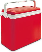 24 Litre Coloured Cooler Box Red