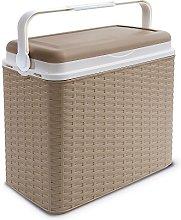 24 Litre Rattan Cooler Box Beige