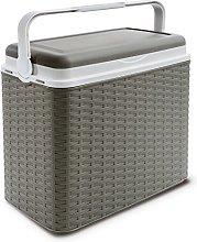 24 Litre Rattan Cooler Box Dove Grey