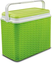24 Litre Rattan Cooler Box Green