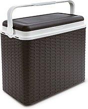 24 Litre Rattan Cooler Box Mocha
