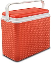 24 Litre Rattan Cooler Box Orange