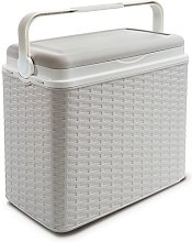 24 Litre Rattan Cooler Box White