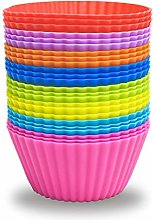 24 Pack Silicone Baking Cups Reusable Muffin