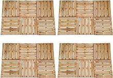 24 pcs Decking Tiles 50x50 cm Wood Brown - Brown -