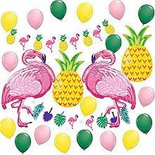 24 PCS Summer Pineapple Flamingo Beach Party
