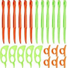 24 Pieces Orange Citrus Peeler Tool, Safe Plastic