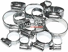 24 x Assorted JCS HI-Grip Hose Clips Stainless