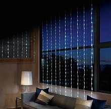 240 LED Waterfall Curtain Lights - White.