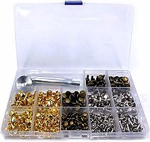 240pcs Rivets Double Cap Rivet Tubular Studs with