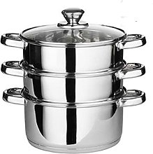24cm 4pc Steamer Cooker Pot Set Pan Cook Food