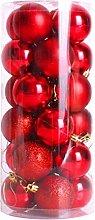 24Pcs Christmas Baubles Sale 40mm Christmas Tree
