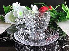 24pcs Glass Turkish Arabic Tea Coffee Serving Set