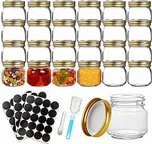 24PCS Jam Jars, 9oz Glass Jar with Lids, Sealed