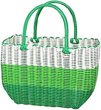 24station Colorful Woven Shopping Basket Woven