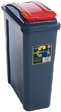 25 Litre Recycling Bin by Wham- RED colour