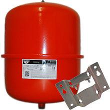25 Litre Red Heating Expansion Vessel & Bracket