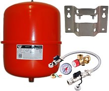 25 Litre Red Heating Expansion Vessel & Sealed