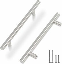 25 Pack 128mm Kitchen Cabinet Handles Brushed