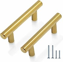 25 Pack 64mm Cupboard Handles Stainless Steel T
