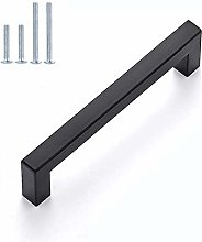 25 Pack Kitchen Cabinet Handles Black for Cabinets