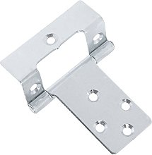 25 Pairs of Large 50mm Cranked Flush Hinges -