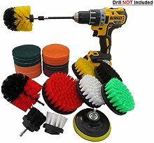 25 Pc Drill Brush Attachment Set, Scrubbing Pads