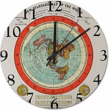 25 x 25 CM Non-Ticking Wall Clock Silent Clock The