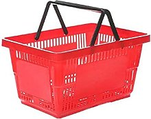 25 x NEW PLASTIC SHOPPING BASKET 28 LITRE WITH 2