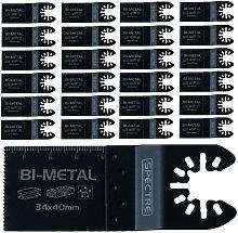 25 x Oscillating BIM 34mm x 40mm Plunge Cut Multi