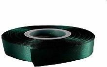 25 Yards / 23 Meters Of Satin Ribbon 10mm - (Green)