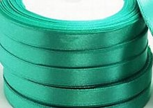 25 Yards / 23 Meters Of Satin Ribbon 10mm - (Teal)