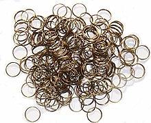 250 Antique Brass Bronze 11mm Rings Clasps Antique