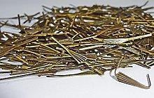 250 Antique Brass Finish Arrow Fan Shaped Clasps