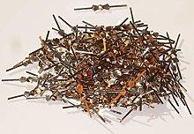 250 Bow Tie Clasps Antique Chrome Metal Chandelier