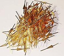 250 Brass Arrow Fan Shaped Clasps Antique Look