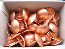 250 Large Copper on Steel Upholstery Nails - 20mm