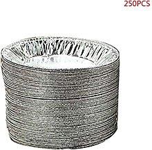 250pcs Disposable Oval Loaf Pan Aluminum Tin Foil