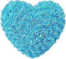 25cm Red Rose Bear Artificial Flower Heart Wall