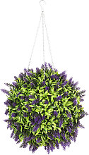 25CM Topiary Ball Artificial Lavender Flower
