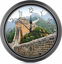 25cm Wall Clock Silent Battery Operated Round Wall
