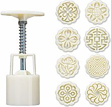 25g Mooncake Mould with 8pcs Flower Stamps