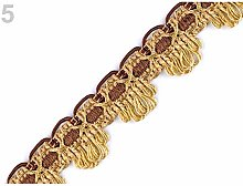 25m (7/31) Brown Gold Upholstery Braid Trim Width