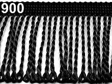 25m Black Chainette Fringe Width 60mm, Fringes,