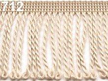 25m Cream Chainette Fringe Width 60mm, Fringes,