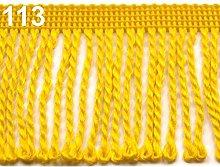 25m Yellow Chainette Fringe Width 60mm, Fringes,