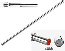 25mm Extendable Wardrobe Rail Tube Rod with End
