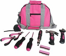 25pc Pink Tool Kit In Carry Bag