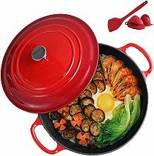 26Cm Cast Iron Casserole Pan, Nonstick Enamel